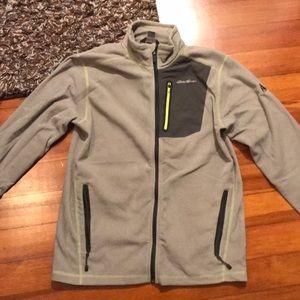 Eddie Bauer cloud full zip fleece sweater jacket